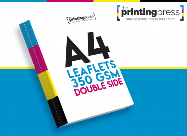 A4 Leaflet 350gsm Double