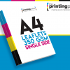 A4 Leaflet 350gsm Single