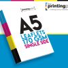 A5 Leaflet 170gsm Single