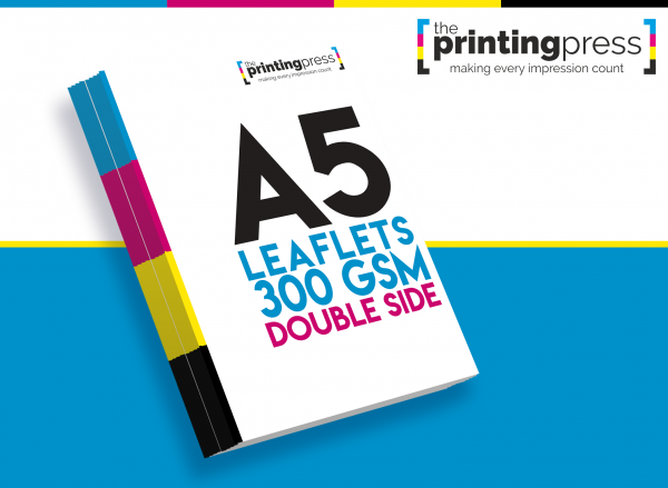 A5 Leaflet 300gsm Double