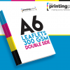 A6 Leaflet 300gsm Double