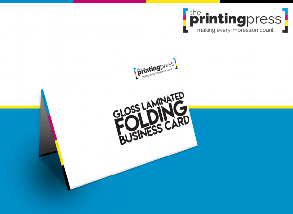 Gloss Laminated Folding Business Cards