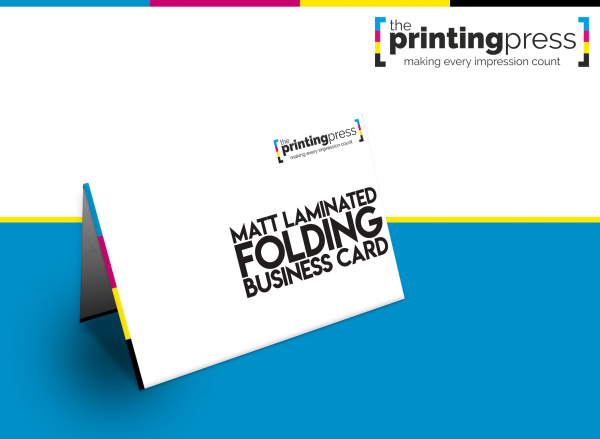 Matt Laminated Folding Business Cards